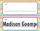 Chevron Name Tags (editable)