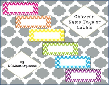 Chevron Name Tags or Labels