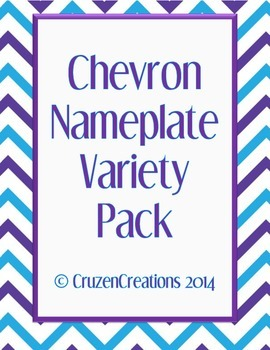 Chevron Nameplate Variety Pack