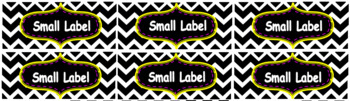 Chevron Nameplate and Labels-Purple and Yellow Editable