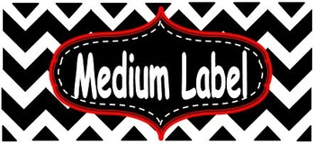 Chevron Nameplate and Labels-Red (Editable)