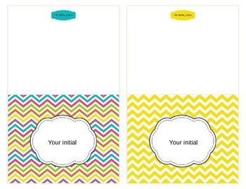 Chevron Note Cards {Editable}
