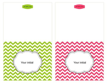 Chevron Note Cards {Editable}
