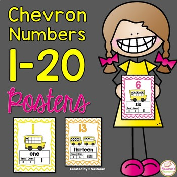 Numbers 1- 20 :Chevron Posters