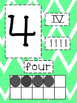 Chevron Number Cards