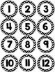 Number Circles Calendar, Chevron Back to School