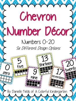 Chevron Number Decor 0-20