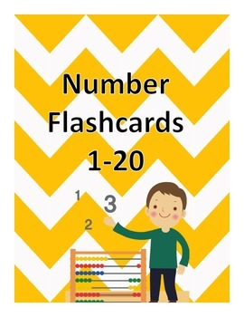 Chevron Number Flashcards 1-20