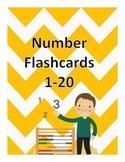 Chevron Number Flashcards 1-20