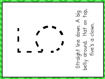 Chevron Number Formation Poems and Cards 0-10 -color & b/w