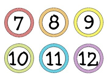 Chevron Student Number Labels