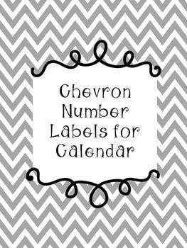 Chevron Number Labels for Calendar