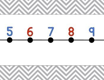 Chevron Number Line {grey}