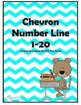 Chevron Number Line 1-20