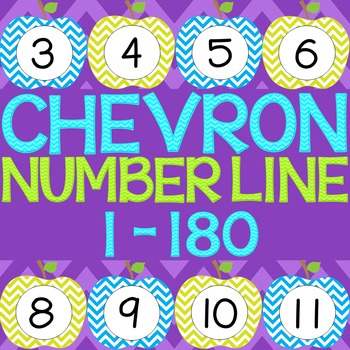 Chevron Apple Number Line