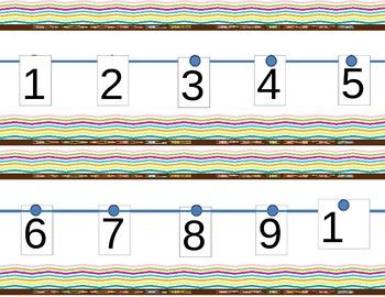 Chevron Number Line-Printable!