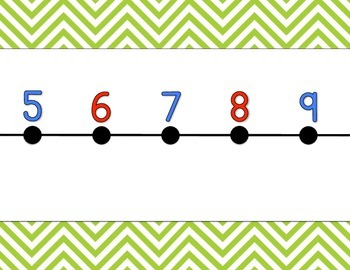 Chevron Number Line {lime green}