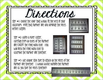 Chevron Number Lines Numbers -29 through 200