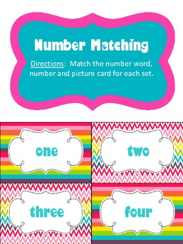 Chevron Number Matching Cards