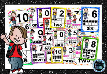 Chevron Number Posters 0-10 - 2 sets - Classroom Decor