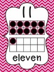 Chevron Number Posters {0-20} With Number, Tens Frame & Number Word