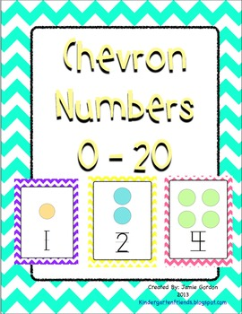 Chevron Number Posters 0 - 20 (multi-colored)