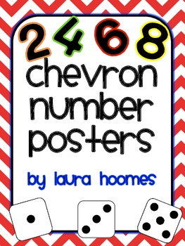 Chevron Number Posters