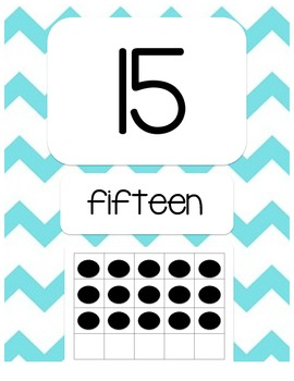 Chevron Number Posters 1-20