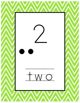 Chevron Number Posters 1-10