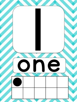 Chevron Number Posters {1-20} with Ten Frames