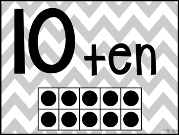 Chevron Number Posters 1-20 {Grey}