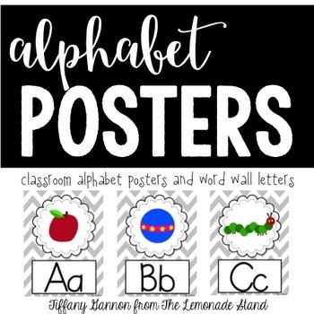 Chevron Alphabet Posters {Grey}