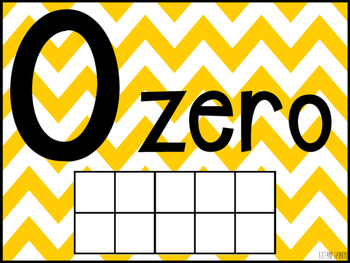 Chevron Number Posters 1-20 {Multi-Color}