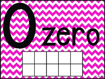 Chevron Number Posters 1-20 {Pink}