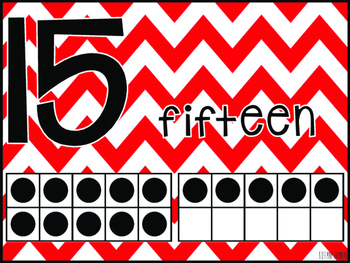 Chevron Number Posters 1-20 {Red}