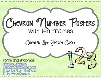 Chevron Number Posters with Ten Frames