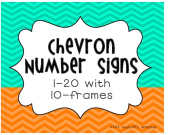Chevron Number Signs with 10 Frames