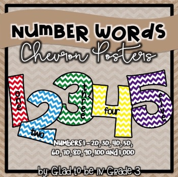 Classroom Number Words ~ Chevron