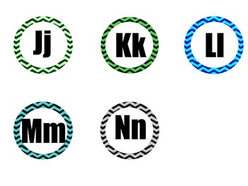 Chevron Number and Alphabet labels