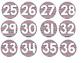 Chevron Numbered Circle Labels (Nautical)
