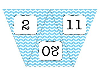 Chevron Numbered Flags-Large Size