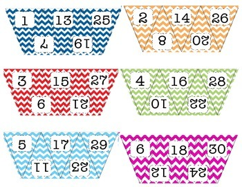 Chevron Numbered Flags-Small Size
