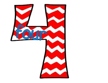 Chevron Numbers 0-10 with Number Words