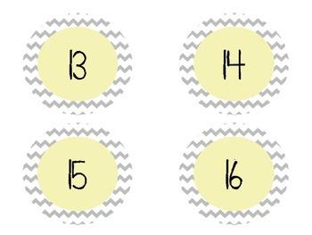 Chevron Numbers 1-30