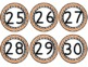 Chevron Numbers {Orange Numbers 1-100}