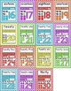 Chevron Classroom Theme Numbers Posters