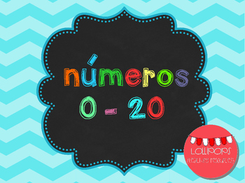 FREE Chevron Numbers Set 0-20 {in Catalan} - Números del 0