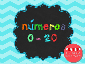 FREE Chevron Numbers Set 0-20 {in Spanish} - Números del 0 al 20 {en español}
