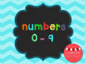 FREE Chevron Numbers Set