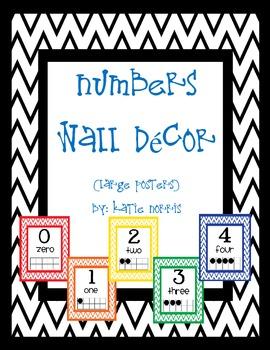 {Chevron} Numbers Wall Decor